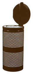 10 Gallon Covered Mesh Trash Can WR-10R CVR COF BROWN GLOSS