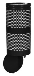 10 Gallon Black Drop Bottom Mesh Trash Can WR690 BLACK PERF
