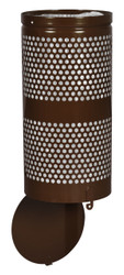 10 Gallon Brown Drop Bottom Mesh Trash Can WR690 COFFEE PERF