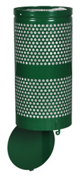 10 Gallon Green Drop Bottom Mesh Trash Can WR690 GREEN PERF