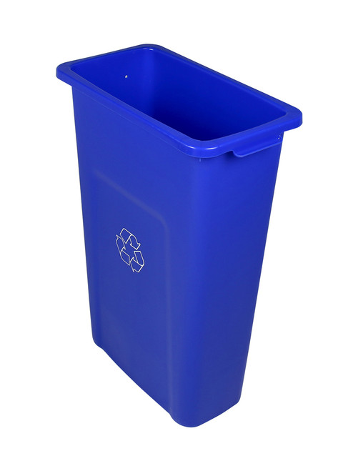 16 Gallon Skinny Plastic Home U0026 Office Trash Can Or Recycling Bin (4 Colors)