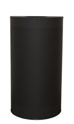 12 Gal. The Celestial CLHR12-BK Mesh Half Round Trash Can Black
