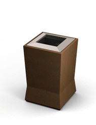 20 Gallon ModTec Plastic & Steel Designer Trash Can 724565 Old Bronze