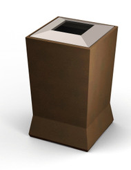 39 Gallon ModTec Plastic & Steel Designer Trash Can 724665 Old Bronze