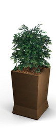 22 x 22 x 37 ModTec Planter Large 724465 Old Bronze