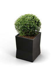 15 x 15 x 20 ModTec Planter Small 724266 Gunmetal Satin