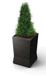18 x 18 x 28  ModTec Planter Medium 724366 Gunmetal Satin