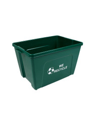 18 Gallon WE RECYCLE Bottles U0026 Cans Curbside Recycler Green TRUE18 12WR