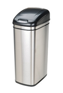 touchless kitchen trash can stainless steel rectangle dzt1 (4 sizes)