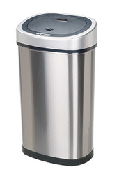 11 13 gallon touchless automatic kitchen trash can stainless steel dzt 50 9 - Stainless Steel Kitchen Trash Can