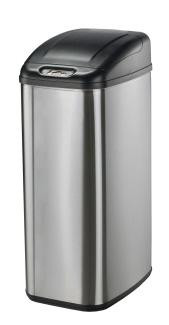 13 gal touchless kitchen can stainless steel dzt 50 6 rh trashcansunlimited com touchless kitchen trash can reviews costco touchless kitchen trash can