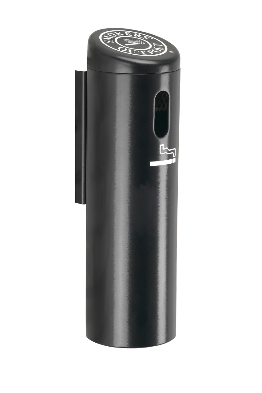 Lockable Smokers Outpost Wall Mount Outdoor Ashtray 711201