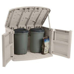 60 Gallon Horizontal Trash Can Storage Shed Garbage Can Hide Away