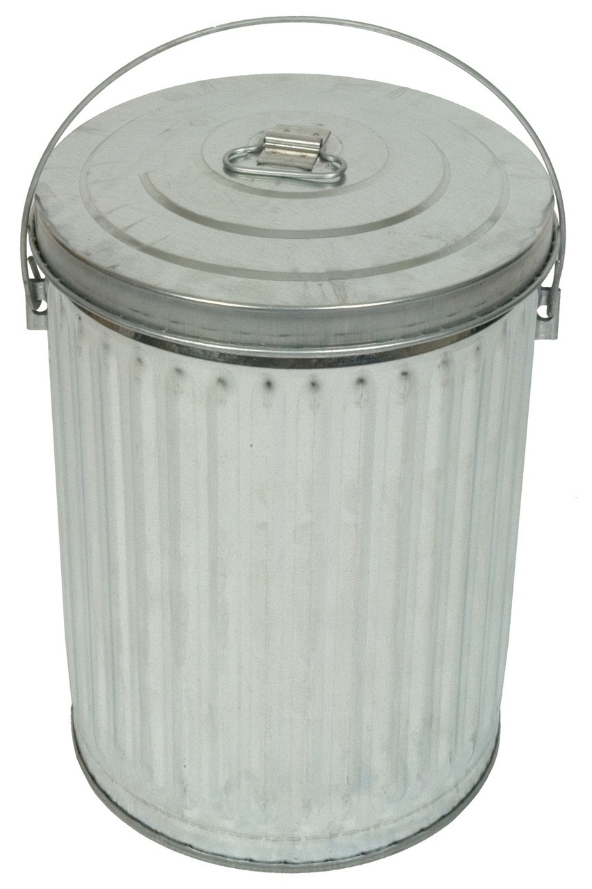 10 Gallon Galvanized Garbage Pail With Optional Lid 10gpc 2 Pack