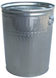 20 Gallon Light Duty Galvanized Trash Can with Optional Lid WCD20C