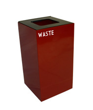 28 Gallon Metal Geocube 28GC0 Recycling Bin Receptacle for Waste