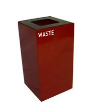 28 Gallon Metal Geocube 28GC0 Recycling Bin Receptacle for Waste