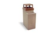 10 Gallon Concrete Ash Trash Outdoor Waste Container TF2070