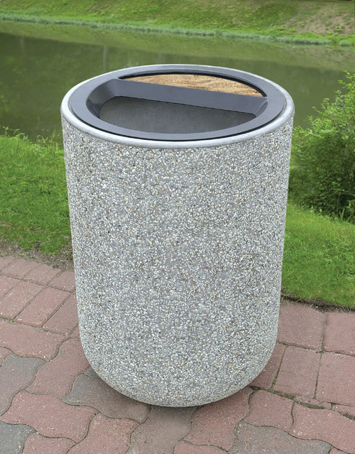 511 Best Container Gardening Ideas Images On Pinterest: 31 Gallon Concrete Ash Trash Top Outdoor Waste Container