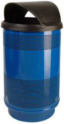 Stadium Series 55 Gallon Painted Stainless Steel Trash Container Hood Top