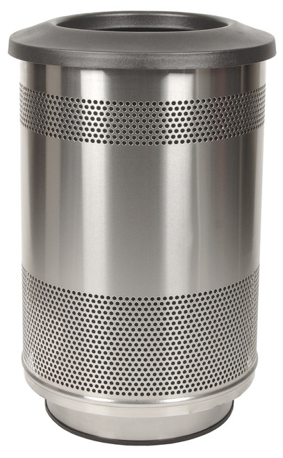 55 gallon stadium series stainless steel trash container sc55 01 ss. Black Bedroom Furniture Sets. Home Design Ideas