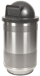 Stadium Series 55 Gallon Stainless Steel Trash Container Dome Top