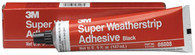 Super Weatherstrip Adhesive 08008 Black 5 oz Tube