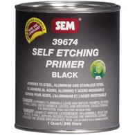 Self Etching Primer- Black Quart Can