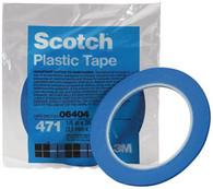 Scotch Plastic Tape 471 Blue 3/4 x 36 yd