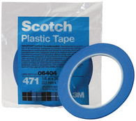 Scotch Plastic Tape 471 Blue 1/8 x 36 yd