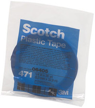 Scotch Plastic Tape 471 Blue 1/4 x 36 yd
