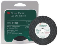 Green Corps Cut-Off Wheel 01989 3 x 1/32 x 3/8 5 wheels/pk