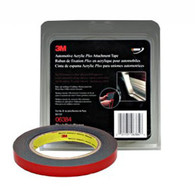 Automotive Acrylic Plus Attachment Tape 06384 Black 1/2 X 5 Yds 45 mil