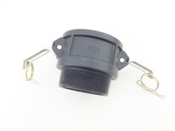 Type B Male 3 inch Camlock Fitting to 3 inch Male Thin Thread, PP Plastic (B300)