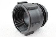 """PolyPropylene (PP)  2"""" BSP female G/P/P W/C o-ring to S70X6 male drum thread"""