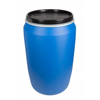 Brand New Schutz Blue Open Top Drum HDPE Plastic (200-220 litres)