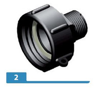 PP 1 inch BSP hex male adapter X S606X6 female buttress