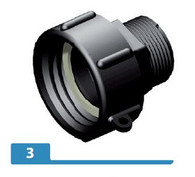 PP 1 1/4 inch BSP hex male adapter X S606X6 female buttress
