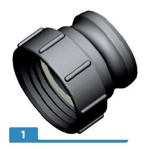 "3"" part A, 3"" Camlock adaptor X S10X8 female buttress"