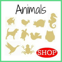 Wooden DIY Craft Unfinished Shapes Animals