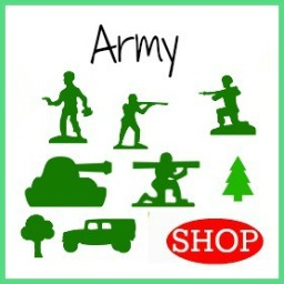 Wooden DIY Craft Unfinished Shapes Army