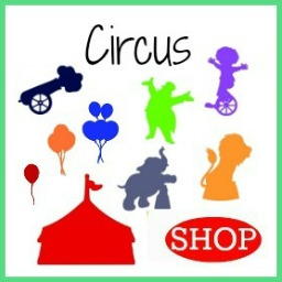 Wooden DIY Craft Unfinished Shapes Circus