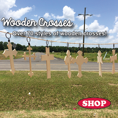 Large WoodenCrosses and Kits for beautiful home