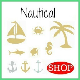 Wooden DIY Craft Unfinished Shapes Nautical