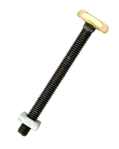 Harness Bolt with flat brass head