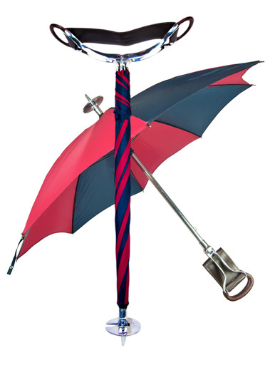 Ascot Umbrella Shooting Stick Burgundy/Navy cover