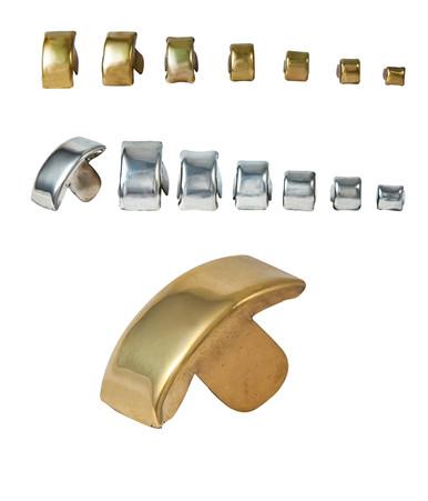 Clincher links, brass & nickel silver