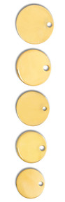 Dog Collar Discs, Brass