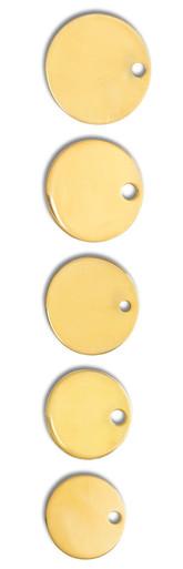 Dog Collar Discs, Brass