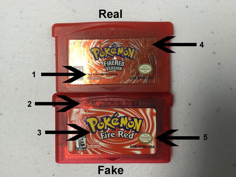 Pokemon Fire Red Cartridge